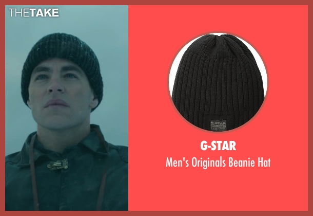 G-Star black hat from The Finest Hours seen with Chris Pine (Bernie Webber)