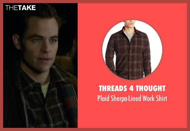 Threads 4 Thought brown shirt from The Finest Hours seen with Chris Pine (Bernie Webber)