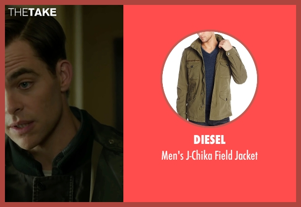 Diesel green jacket from The Finest Hours seen with Chris Pine (Bernie Webber)