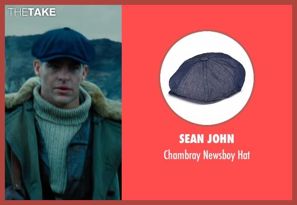 Sean John blue hat from Wonder Woman seen with Chris Pine (Steve Trevor)