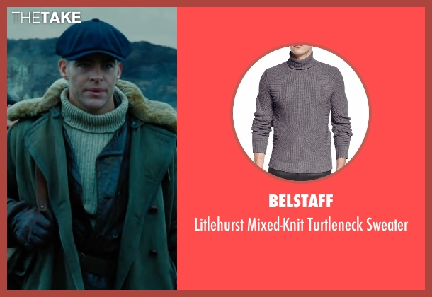 Burberry gray sweater from Wonder Woman seen with Chris Pine (Steve Trevor)