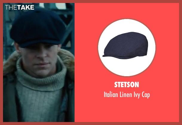 Stetson blue cap from Wonder Woman seen with Chris Pine (Steve Trevor)
