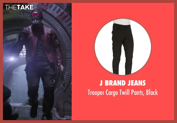 J Brand Jeans black black from Guardians of the Galaxy seen with Chris Pratt (Peter Quill / Star-Lord)