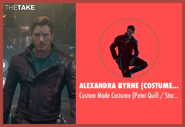 Alexandra Byrne (Costume Designer) costume from Guardians of the Galaxy seen with Chris Pratt (Peter Quill / Star-Lord)