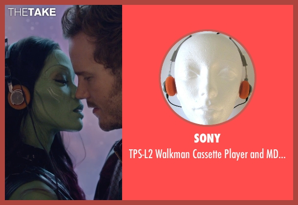 Sony headphones from Guardians of the Galaxy seen with Chris Pratt (Peter Quill / Star-Lord)