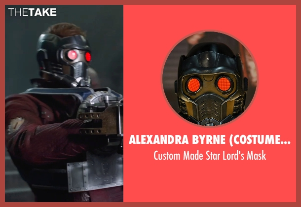 Alexandra Byrne (Costume Designer) mask from Guardians of the Galaxy seen with Chris Pratt (Peter Quill / Star-Lord)