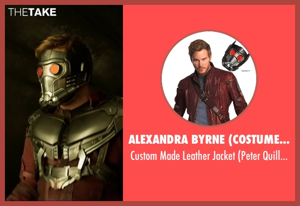 Alexandra Byrne (Costume Designer) red jacket from Guardians of the Galaxy Vol. 2 seen with Chris Pratt (Peter Quill / Star-Lord)