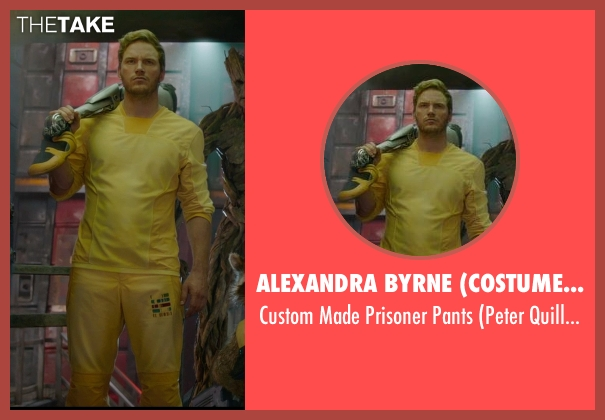 Alexandra Byrne (Costume Designer) yellow pants from Guardians of the Galaxy seen with Chris Pratt (Peter Quill / Star-Lord)