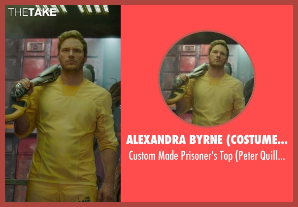 Alexandra Byrne (Costume Designer) yellow top from Guardians of the Galaxy seen with Chris Pratt (Peter Quill / Star-Lord)