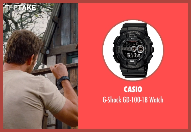 Casio black watch from Jurassic World seen with Chris Pratt (Owen Grady)