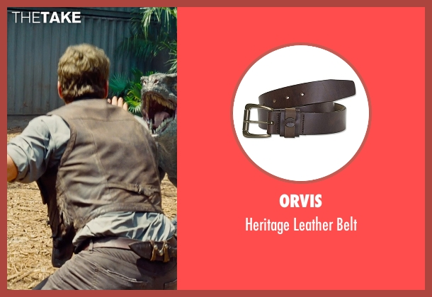 Torino Leather Co. brown belt from Jurassic World seen with Chris Pratt (Owen Grady)