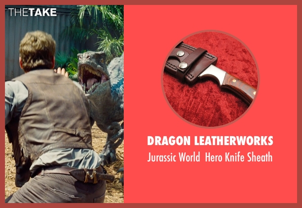 Dragon Leatherworks sheath from Jurassic World seen with Chris Pratt (Owen Grady)