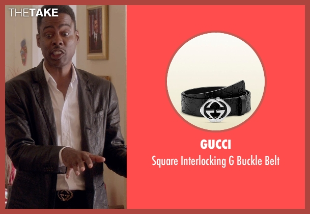 Gucci black belt from Top Five seen with Chris Rock (Andre Allen)