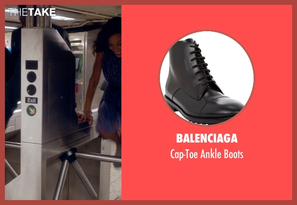 Balenciaga black boots from Top Five seen with Chris Rock (Andre Allen)