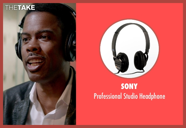 Sony black headphone from Top Five seen with Chris Rock (Andre Allen)