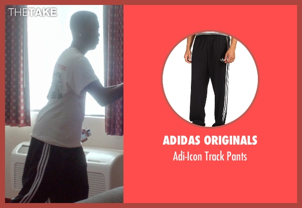 Adidas Originals black pants from Top Five seen with Chris Rock (Andre Allen)