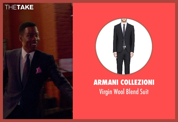 Armani Collezioni black suit from Top Five seen with Chris Rock (Andre Allen)