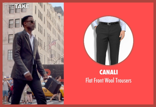 Canali black trousers from Top Five seen with Chris Rock (Andre Allen)