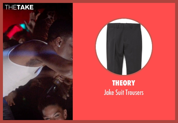 Theory black trousers from Top Five seen with Chris Rock (Andre Allen)