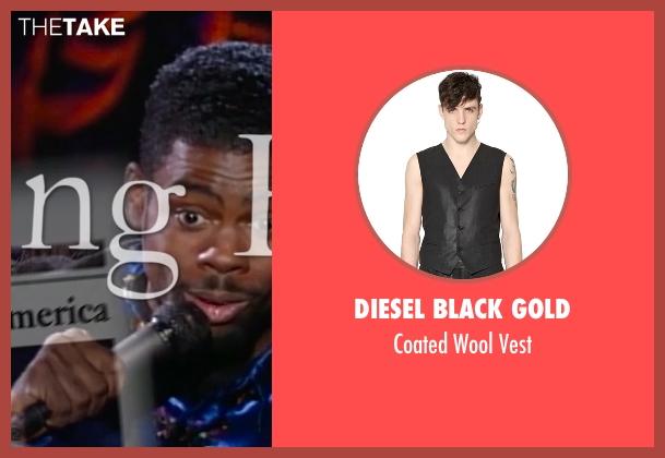Diesel Black Gold black vest from Top Five seen with Chris Rock (Andre Allen)