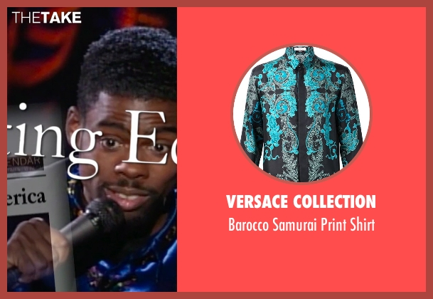Versace Collection blue shirt from Top Five seen with Chris Rock (Andre Allen)