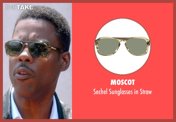 Moscot brown straw from Top Five seen with Chris Rock (Andre Allen)