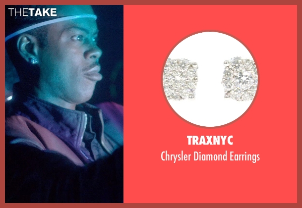 TraxNYC earrings from Top Five seen with Chris Rock (Andre Allen)
