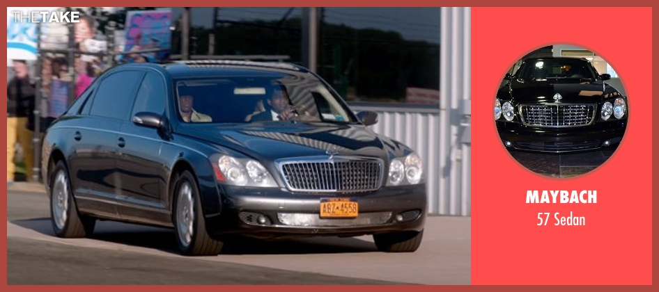 Maybach sedan from Top Five seen with Chris Rock (Andre Allen)