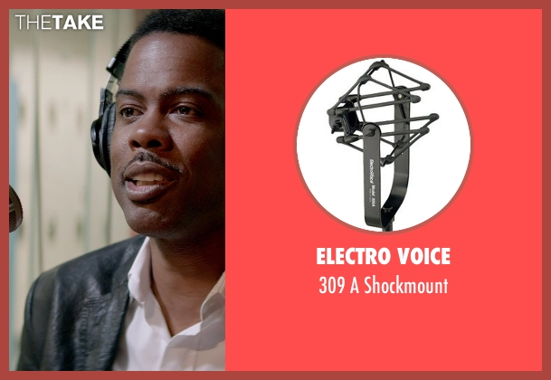 Electro Voice shockmount from Top Five seen with Chris Rock (Andre Allen)