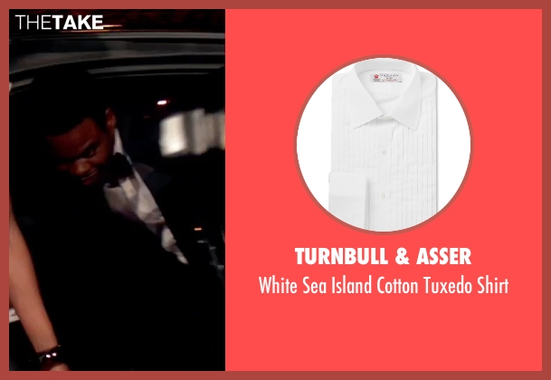 Turnbull & Asser white shirt from Top Five seen with Chris Rock (Andre Allen)