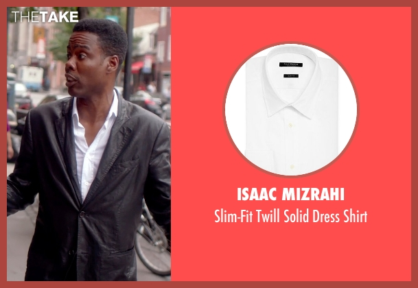 Isaac Mizrahi white shirt from Top Five seen with Chris Rock (Andre Allen)