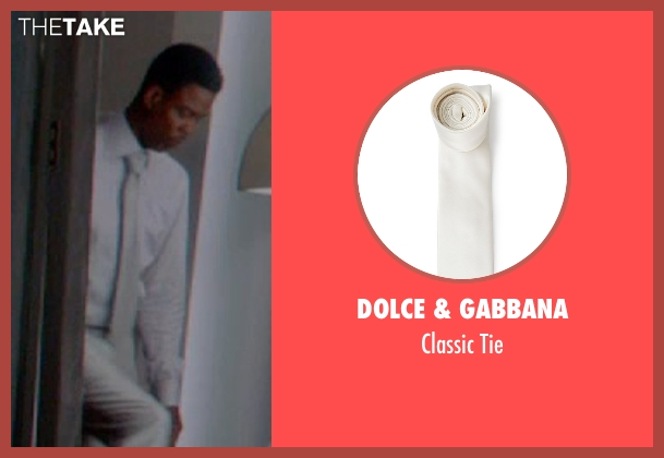 Dolce & Gabbana white tie from Top Five seen with Chris Rock (Andre Allen)