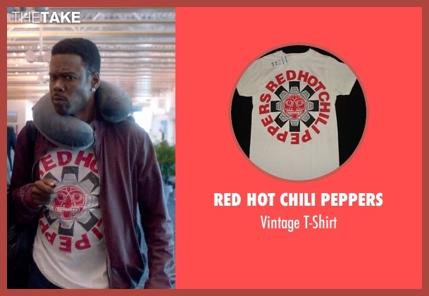 Red Hot Chili Peppers white t-shirt from Top Five seen with Chris Rock (Andre Allen)