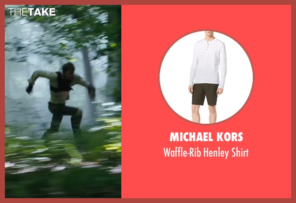 Michael Kors white shirt from The Maze Runner seen with Chris Sheffield (Ben)