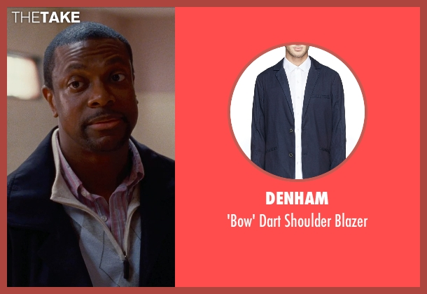 Denham blue blazer from Silver Linings Playbook seen with Chris Tucker (Danny)