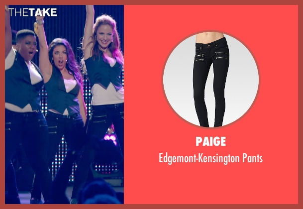 Paige black pants from Pitch Perfect 2 seen with Chrissie Fit (Flo)