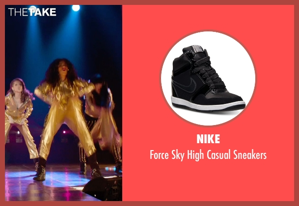 Nike black sneakers from Pitch Perfect 2 seen with Chrissie Fit (Flo)