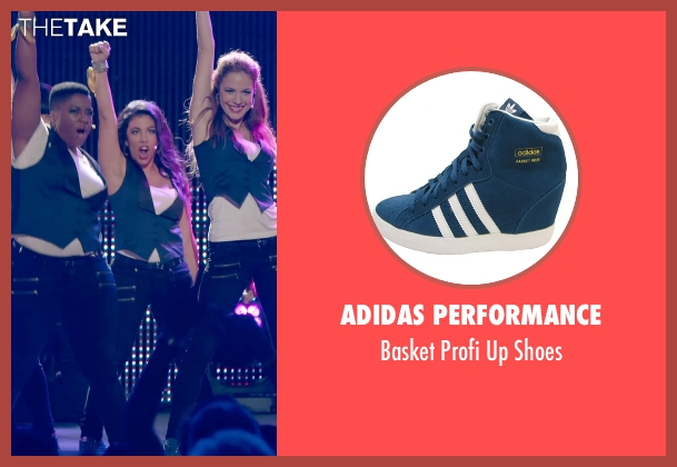 Adidas Performance blue shoes from Pitch Perfect 2 seen with Chrissie Fit (Flo)