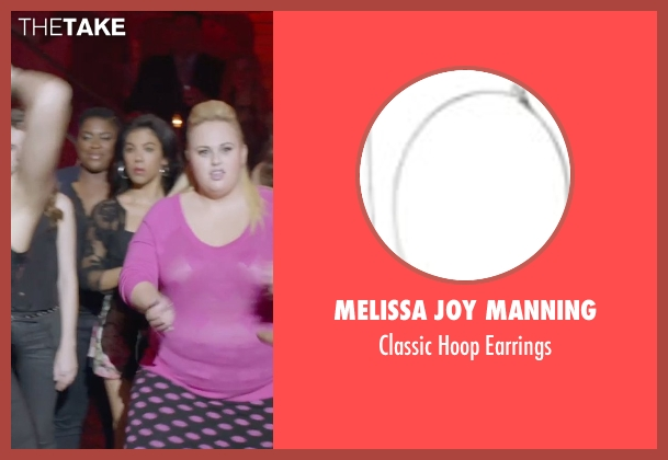 Melissa Joy Manning silver earrings from Pitch Perfect 2 seen with Chrissie Fit (Flo)