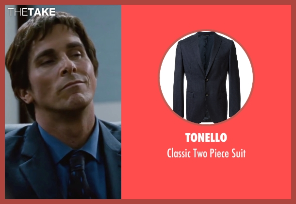 Tonello blue suit from The Big Short seen with Christian Bale (Michael Burry)