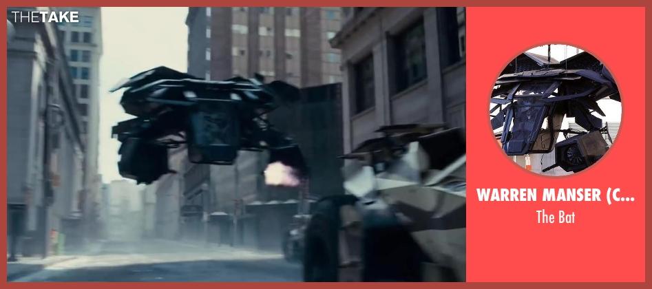 Warren Manser (Concept Artist) bat from The Dark Knight Rises seen with Christian Bale (Bruce Wayne)