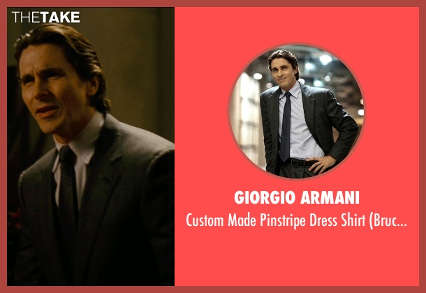 Giorgio Armani white shirt from The Dark Knight Rises seen with Christian Bale (Bruce Wayne)
