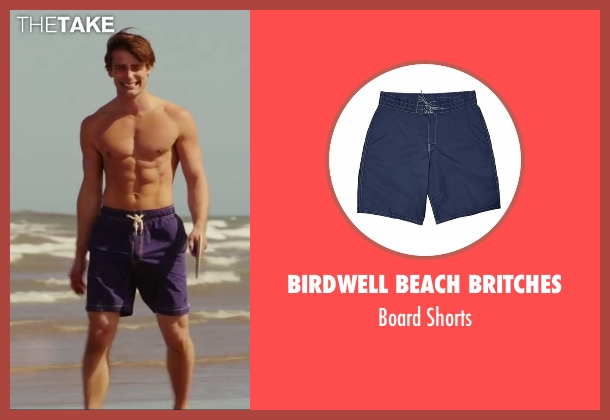 Birdwell Beach Britches blue shorts from Love, Rosie seen with Christian Cooke (Greg)