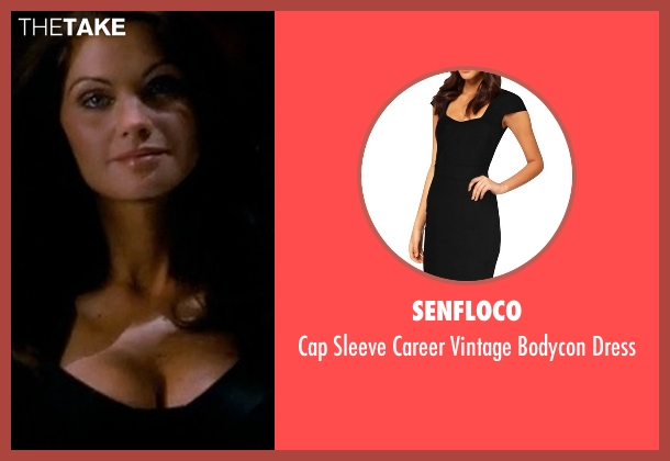 Senfloco black dress from Crazy, Stupid, Love. seen with Christian Pitre (Waitress with Check)