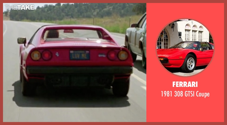 Ferrari coupe from Vacation seen with Christie Brinkley (The Girl in the Ferrari)
