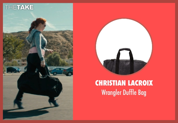 Christian Lacroix black bag from Drive seen with Christina Hendricks (Blanche)