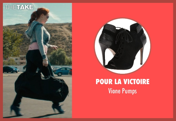 Pour La Victoire black pumps from Drive seen with Christina Hendricks (Blanche)