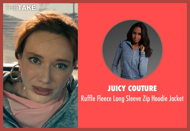 Juicy Couture blue jacket from Drive seen with Christina Hendricks (Blanche)