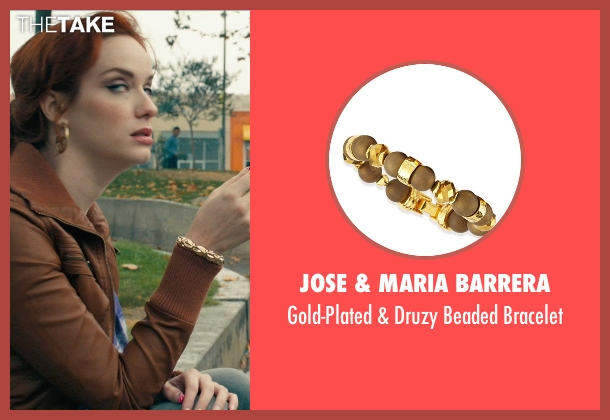 Jose & Maria Barrera gold bracelet from Drive seen with Christina Hendricks (Blanche)