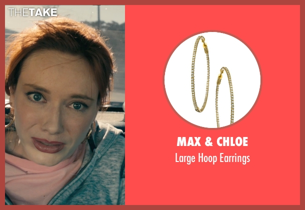 Max & Chloe gold earrings from Drive seen with Christina Hendricks (Blanche)
